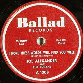 Joe Alexander & the Cubans
