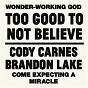 Album Too Good To Not Believe de Cody Carnes / Brandon Lake