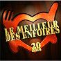 Compilation Le Meilleur Des Enfoirés 20 Ans avec Francis Cabrel / Coluche / Yves Montand / Michel Platini / Jean-Jacques Goldman...