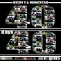 Album 40 days 40 nights (remix) de Mongstar / Ricky T