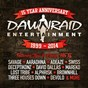 Compilation Dawn raid entertainment 15 year anniversary (1999 - 2014) avec Lost Tribe / Deceptikonz / Ill Semantics / Mareko / Adeaze...