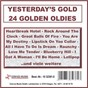 """Compilation Yesterday's gold - 24 golden oldies avec Bragg, Riley / Edwards, Feaster, Keyes, Mcrae / The Crew Cuts / Axton, Durden, Presley / Elvis Presley """"The King""""..."""
